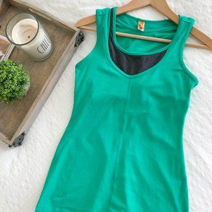 Lucy Green built in Bra work out tank S